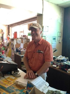 Stephen Pettigrew at home behind at the counter at Pettigrew Hardware in Calhoun Falls.